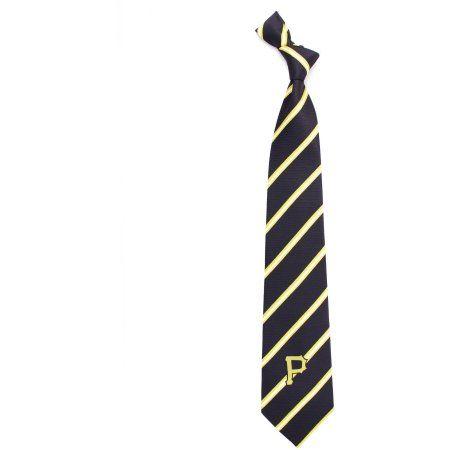 MLB Pirates Stripe One Necktie, Black