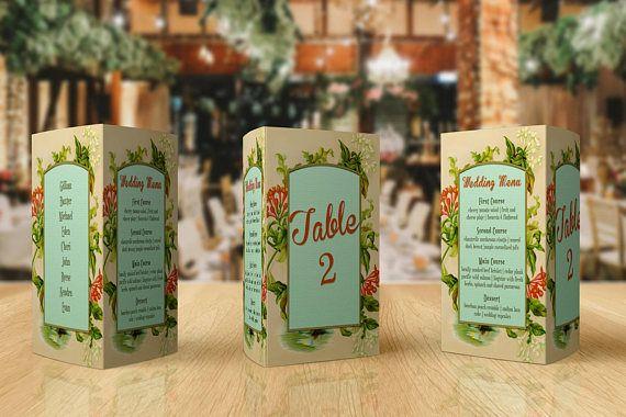 Script Table Number  Wedding Menu Card  Table Numbers