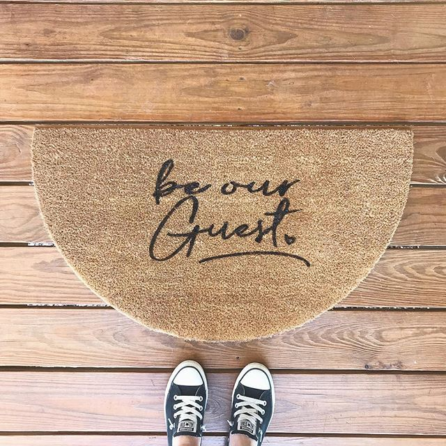 A Little Creative Research Today I Ve Wanted To Make Welcome Mats Forever We Tried Making One Before And What We Trie Welcome Mats Farmhouse Favorite Diy Rug