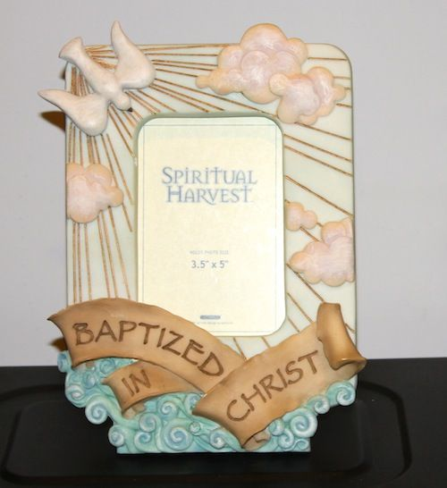 Baptismal Picture Frame - with 3D accents   # R022035     $33.95