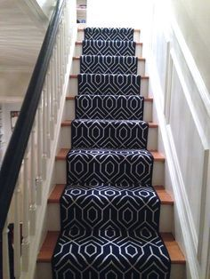 Image result for grey carpet stair runner