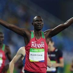 David Lekuta Rudisha of Kenya win Men's 800m final at Rio Olympics