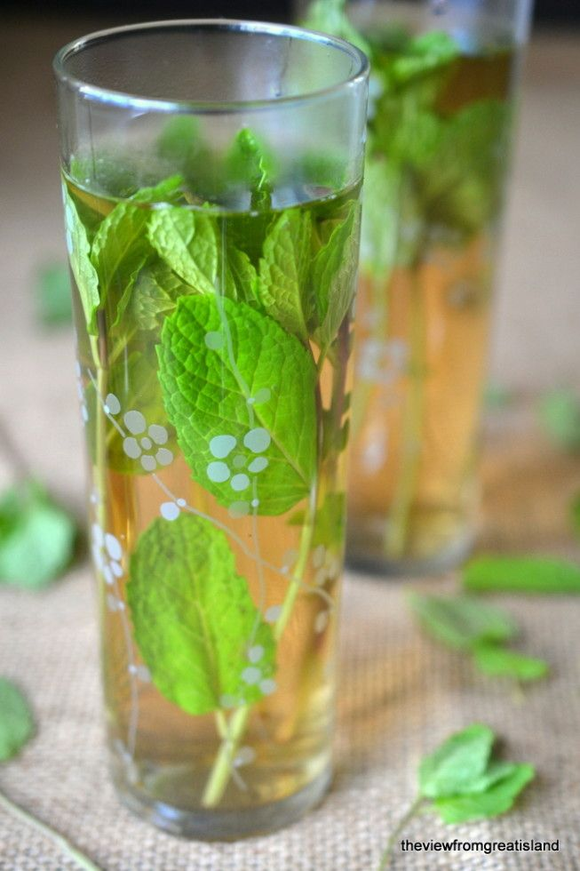 Sweet Moroccan Mint Tea - Many north African countries love adding lots of mint to their tea. Tea vendors are never seen without a large bunch of mint leaves.