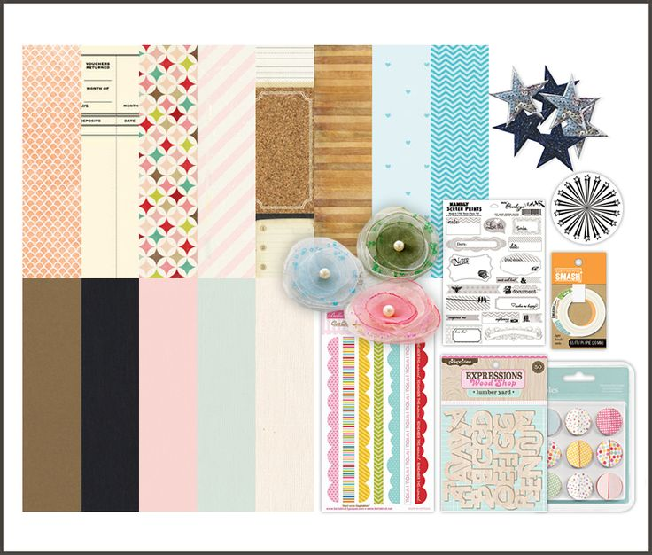 Scrapbook.com Kit Club - Noteworthy for June like the idea of different materials packaged into a kit!
