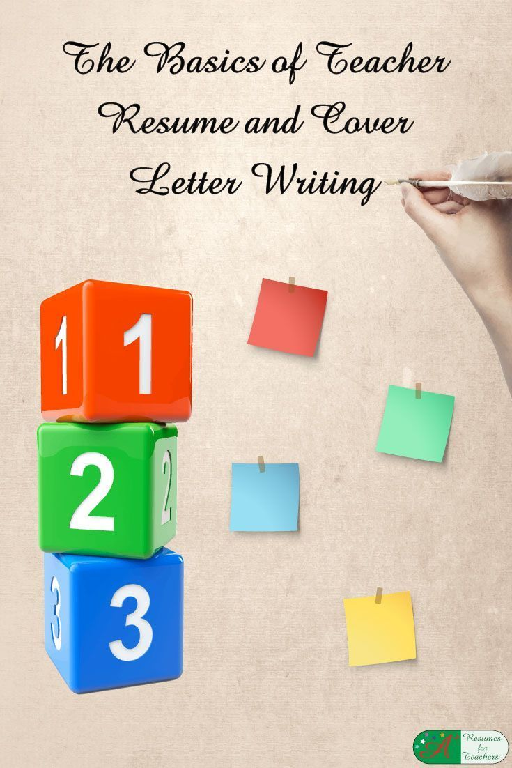 The Basics of Teacher Resume and Cover Letter Writing via @https://www.pinterest.com/candacedavies1/