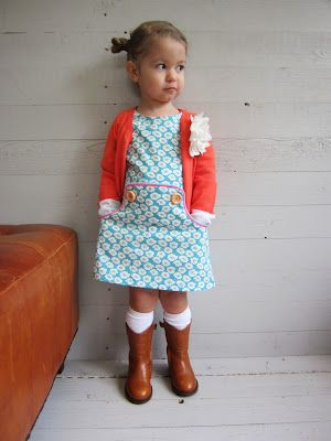 "jurkje love this ""little dress"" with cowboy boots (plus the Dutch are crazy about cowboys...)"