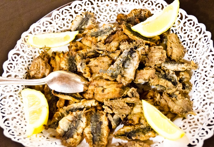 """Sarde a Beccafico"" a popular and delicious Sicilian dish."