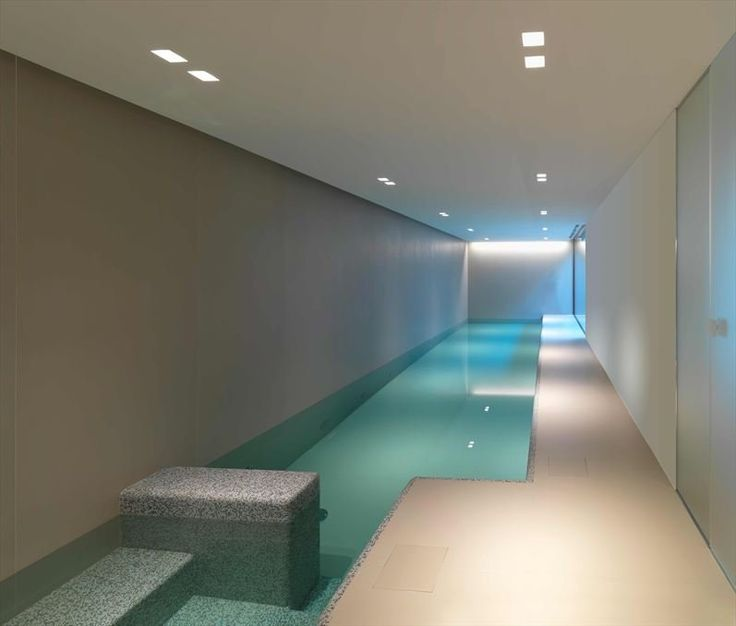What a better way to unwind after a long day at work than to do a few strokes in this indoor pool!