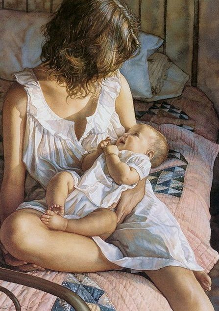 Beautiful artwork that depicts the bond between mother and child!