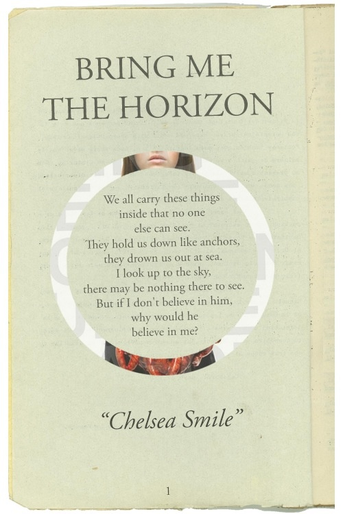 Chelsea Smile - Bring Me the Horizon. I really want to see them at Warped.