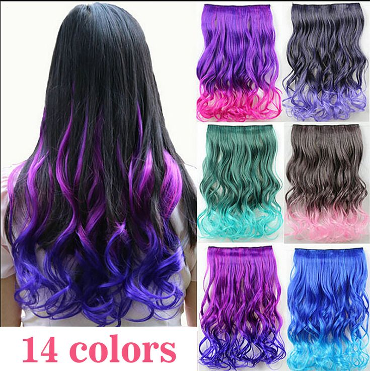 Hairpiece 23inch 120g Wavy 5 Clips in False Hair Styling Synthetic Clip In Hair Extensions One Piece Heat Resistant Hair Pad