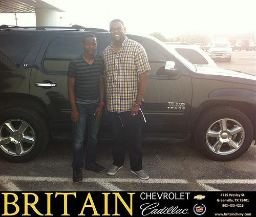 Thank you to Robert Brown on the 2011 Chevrolet Tahoe from Branden Chambers and everyone at Britain Chevrolet Cadillac!