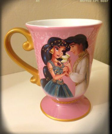 Amazon.com: Disney Store Disney Fairytale Designer Collection Princess Jasmine and Aladdin Mug/Coffee Cup: Kitchen & Dining