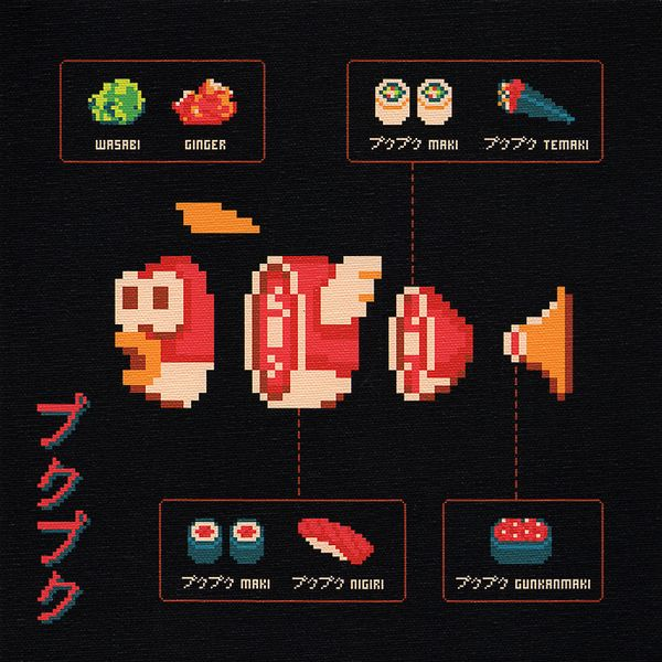 8-Bit Butcher Diagrams by Jude Buffum, via Behance