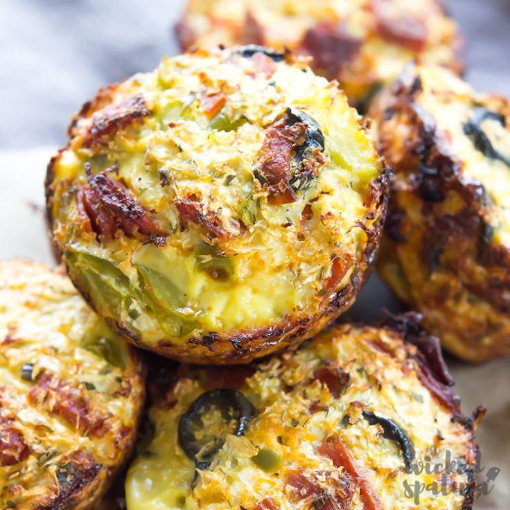 Paleo Mini Blumenkohl Pizza Bites Rezept | Böser Spatel  – Cauliflower creations