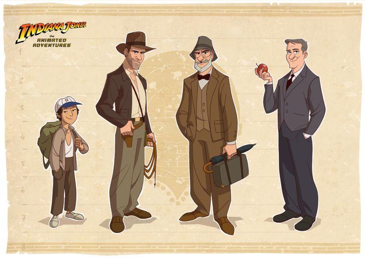 Artist Patrick Schoenmaker created this awesome little series of cartoon style Indiana Jones art
