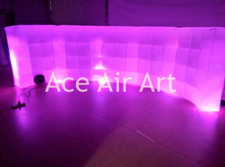Spain Clients highly appriciated  inflatable photo booth wall  For DJ Background with led