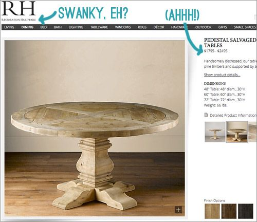 How we scored an authentic Restoration Hardware table for 70% off the retail price!!