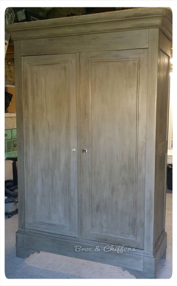 17 meilleures id es propos de armoire peinte sur for Patiner une armoire