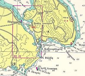 Χάρτες της Λέσβου, Μυτιλήνη, Μυτιλήνη χάρτη