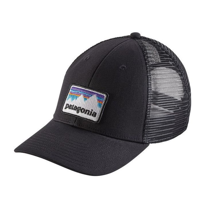Patagonia Shop Sticker Patch LoPro Trucker Hat - Black