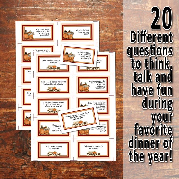 14++ Dinner table games to play treatment