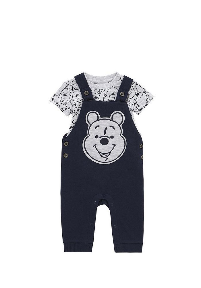 Tesco direct: Disney Winnie the Pooh Bodysuit and Dungarees Set