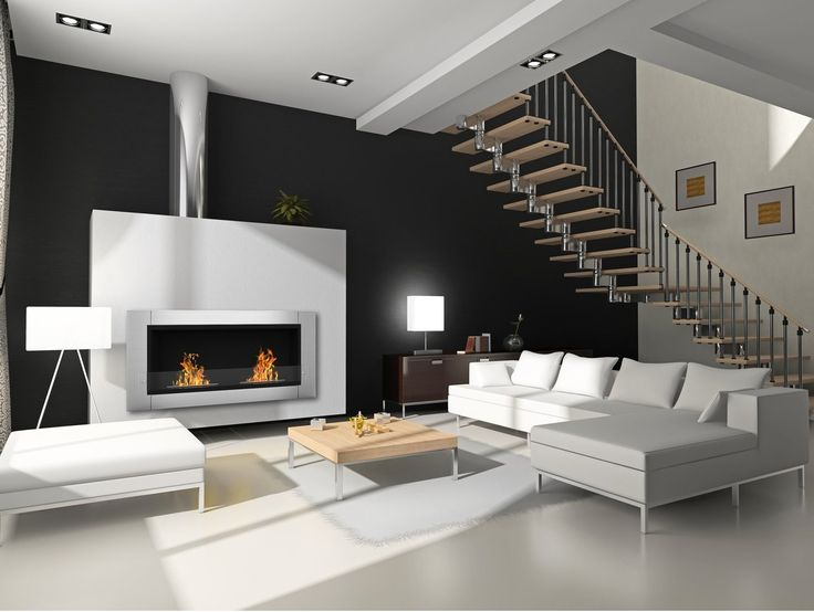 1000 Ideas About Wall Mounted Fireplace On Pinterest