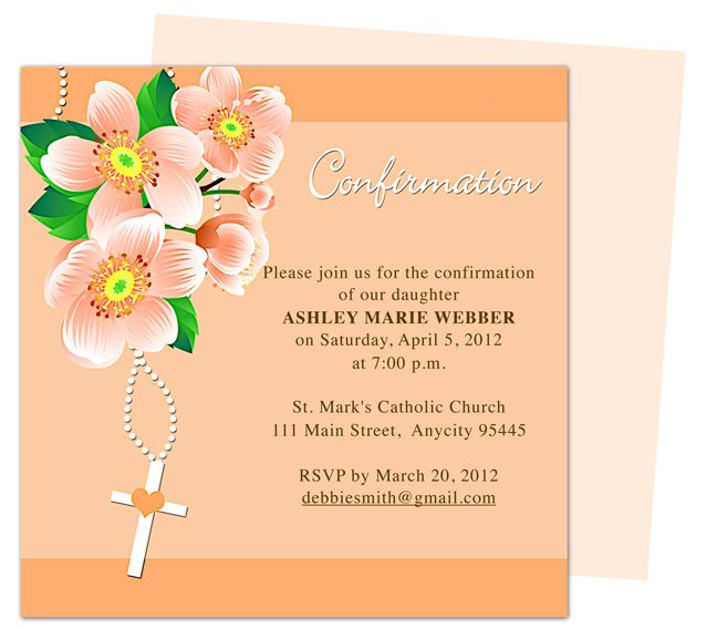 Zion catholic confirmation invitation templates edits for Free printable confirmation invitations template