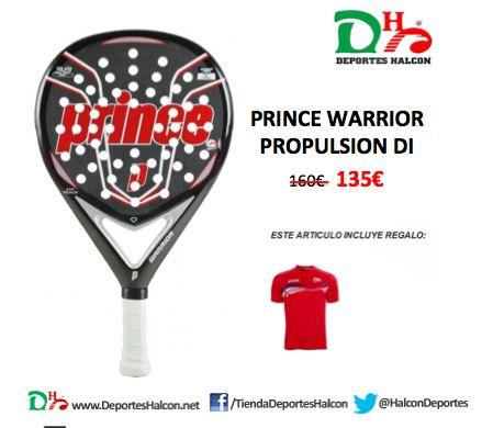 Si buscas un alto rendimiento en tu juego de #pádel, la pala Prince España WARRIOR PROPULSION es lo que necesitas.   ¡Ahora con #descuento, #regalo y envío #gratis! http://bit.ly/Prince-Warrior