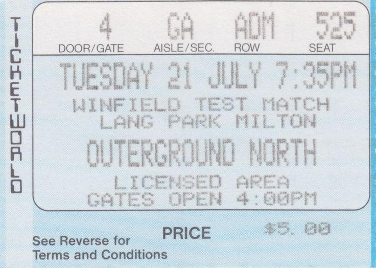 Australia vs New Zealand, Lang Park, Brisbane, 1988.