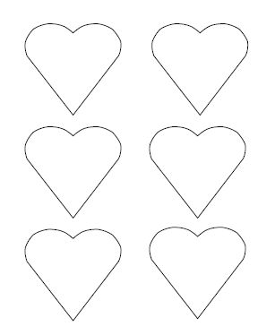 I thought these pointy hearts were especially cute. Totally free to download. You get 6 per page. Would be cute printed on colored paper for a Vday garland!