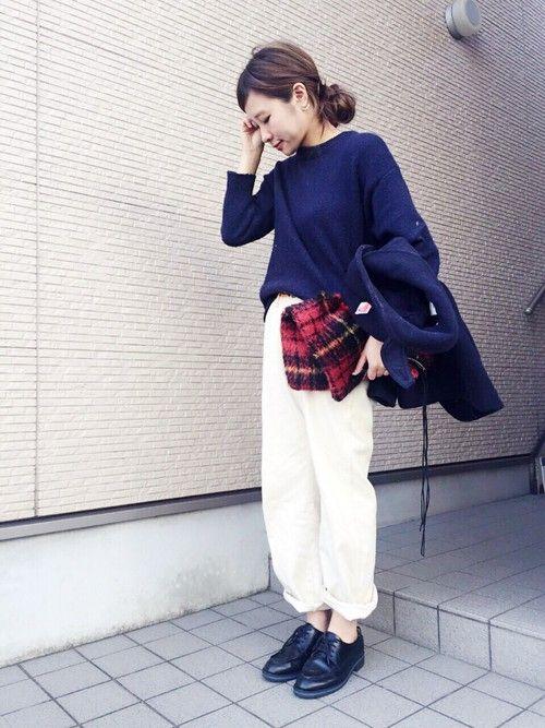 shimo-ne | ☆さんのデニムパンツ「Samansa Mos2 ホワイトデニムワイドパンツ」を使ったコーディネート