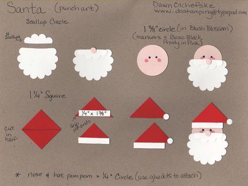 Santa punch art tutorial.