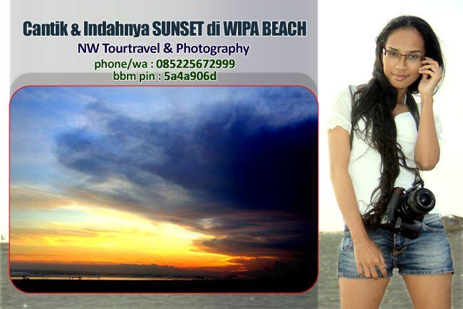 Nurmalia Windy: Cantik & Indahnya Sunset di WIPA Beach Eks. Karesi...
