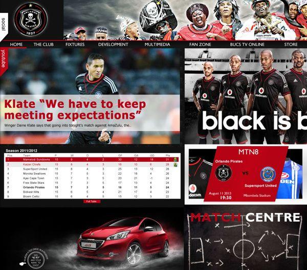 Orlando Pirates - A Conceptual Design  Home page