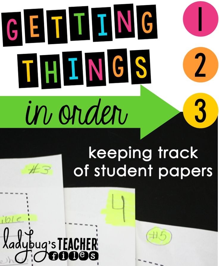 Getting Things in Order (Keeping Track of Student Papers)