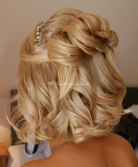 weddingspot.co.uk - wedding hair w curls - Half up short hair from Beautiful Hair