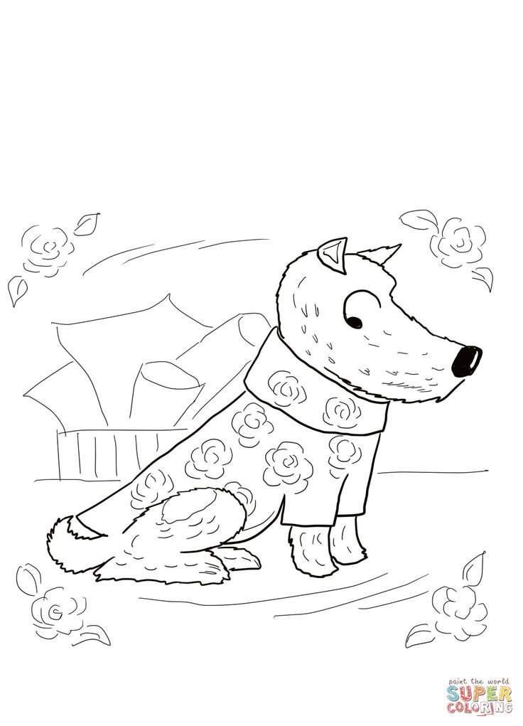 Harry The Dirty Dog Coloring Sheets Coloring Pages
