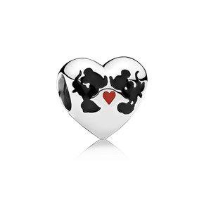 Disney Mickey & Minnie's Kiss Heart Charm - 791443ENMX