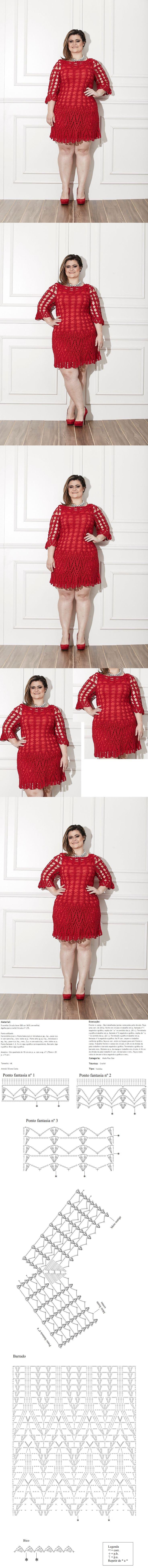 Receitas Círculo - Plus Size - Vestido Vermelho