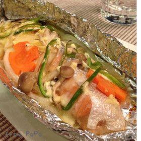 鮭と野菜のチーズホイル焼き by *ぽぽたん* [クックパッド] 簡単 ...