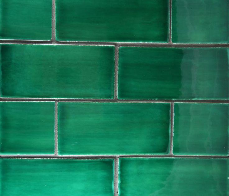 Emerald Green Green Walls Living Room Green Subway Tile