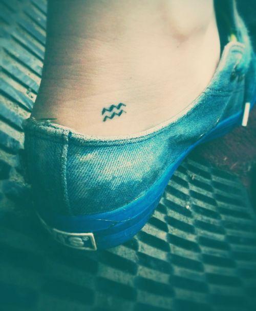 small zodiac Aquarius sign tattoo #ink #horoscope #girly