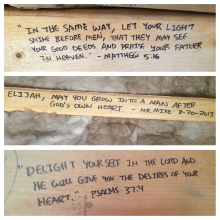 We wrote notes and scriptures on the 2x4s before the drywall goes up to literally have our home built on scripture!
