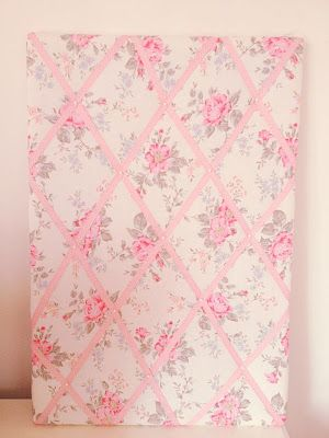 Fabric Covered Pin Board Tutorial. So want to do this!