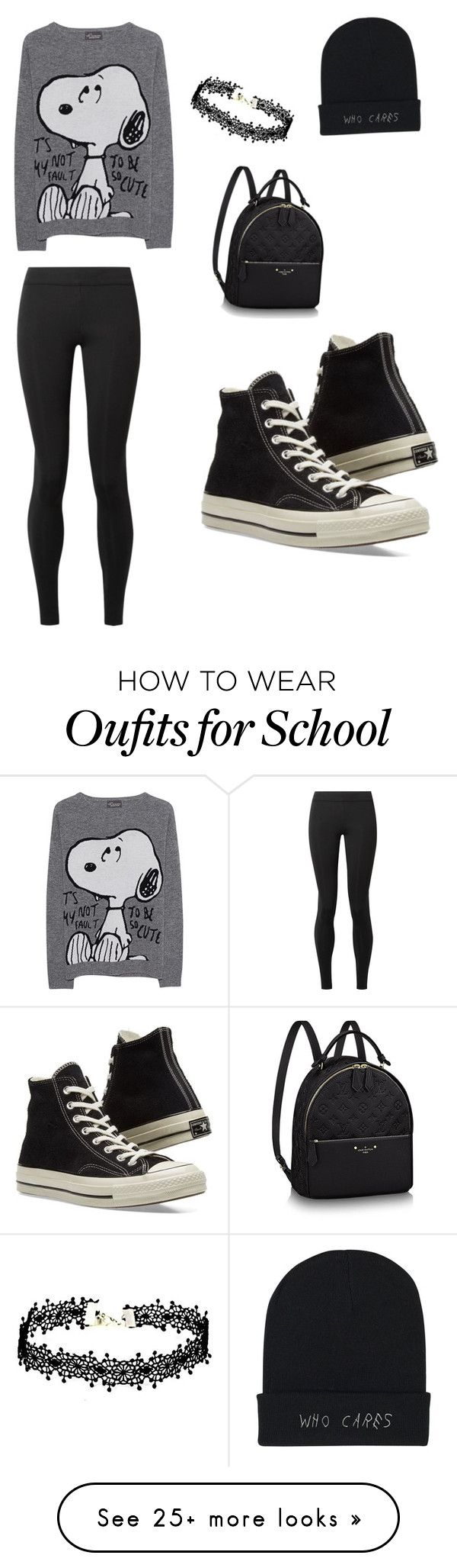 """School"" by shyann-zellars on Polyvore featuring The Row, Princess Goes Hollywood, Converse and beautiful"