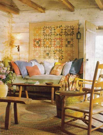 Wall Hangings Dress Up A Log Home   See Our Cabin Inspirations Section On  Lights In. Quilt DisplayRustic RoomStack Of BooksKeeping ...