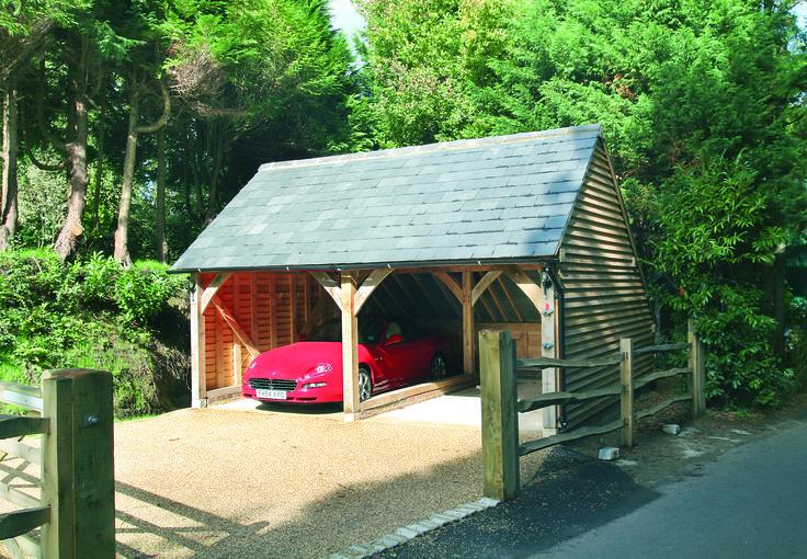 Two Bay Oak Framed Garage Kit Self Build Diy Garages From