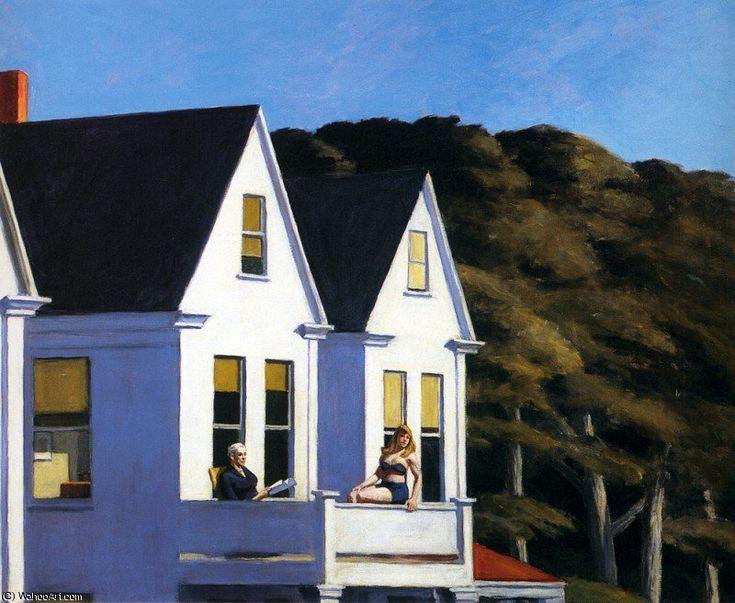 seconde histoire la lumière du soleil de Edward Hopper (1882-1967, United States)